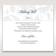Silver/Gray Enchanted Floral Pocket III - Wishing Well / Gift Registry - Wedding Stationery - 92