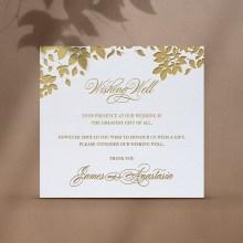 Foiled Botanicals Wishing Well Card - Wishing Well / Gift Registry - WD-KI300-PFL-GG-10 - 184517