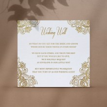 Glamorous Wedding Wishing Well - Wishing Well / Gift Registry - WD-KI300-PFL-GG-11 - 184686