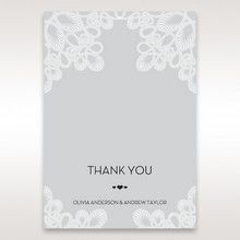 Silver/Gray Elagant Laser Cut Wrap - Thank You Cards - Wedding Stationery - 89
