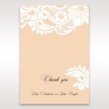 Beige White Laser Cut Wrap with Ribbon - Thank You Cards - Wedding Stationery - 94