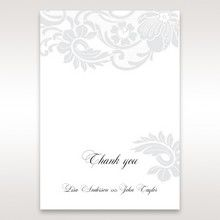 White Black Laser Cut Wrap with Ribbon - Thank You Cards - Wedding Stationery - 98