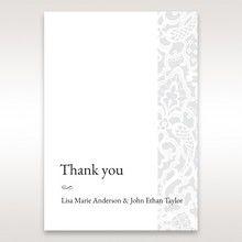 White Elegant Laser Cut - Thank You Cards - Wedding Stationery - 77