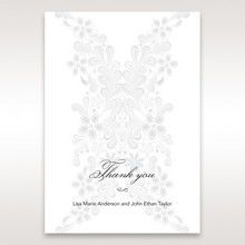 White Laser Cut Floral Wrap - Thank You Cards - Wedding Stationery - 95