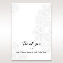 Orange Laser Cut Flower Frame - Thank You Cards - Wedding Stationery - 34