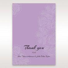 Purple Laser Cut Flower Frame III - Thank You Cards - Wedding Stationery - 59
