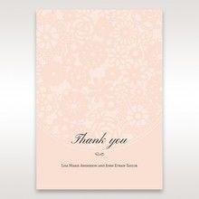 Orange Pink Light Romance - Thank You Cards - Wedding Stationery - 62