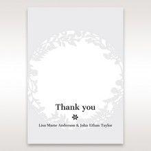 White Enchanted Forest I Laser Cut P - Thank You Cards - Wedding Stationery - 89