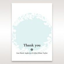 White Enchanted Forest II Laser Cut P - Thank You Cards - Wedding Stationery - 92