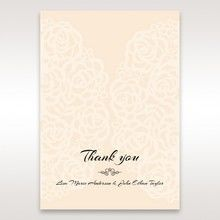 Yellow/Gold Laser Victorian Lace Laser Cut Wrap - Thank You Cards - Wedding Stationery - 7