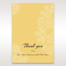 Yellow/Gold Laser Cut Flower Frame III - Thank You Cards - Wedding Stationery - 61