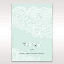 Blue Gatefold Floral Laser Cut - Thank You Cards - Wedding Stationery - 18