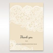 Yellow/Gold Laser Cut Floral Pocket - Thank You Cards - Wedding Stationery - 43