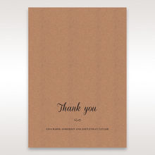 Brown Rustic - Thank You Cards - Wedding Stationery - 25