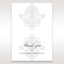 White Letter-fold Damask Pocket - Thank You Cards - Wedding Stationery - 68