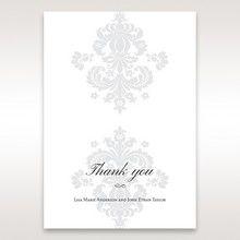 White Letter-fold Damask Pocket - Thank You Cards - Wedding Stationery - 68