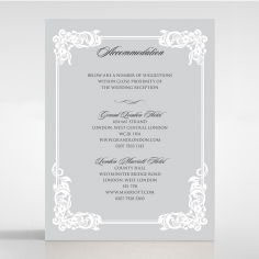 Black Divine Damask wedding accommodation invite card