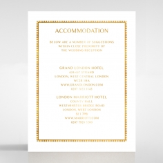 Black Doily Elegance with Foil wedding stationery accommodation card