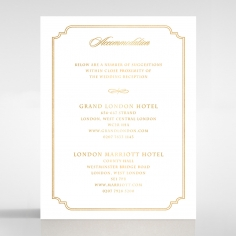 Black Victorian Gates with Foil wedding accommodation invite card design
