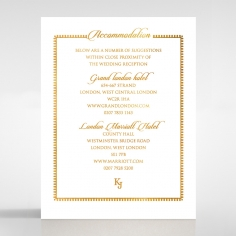 Blooming Charm with Foil wedding accommodation card design