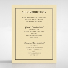 Damask Love wedding accommodation invitation card design