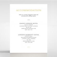 Diamond Drapery wedding stationery accommodation enclosure card