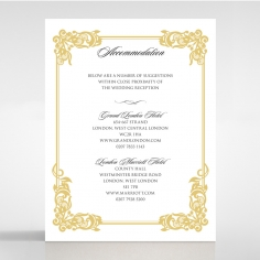 Divine Damask wedding accommodation invitation card