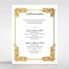 Divine Damask with Foil wedding accommodation invitation card design