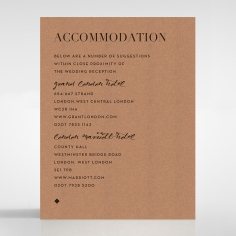 Enchanting Imprint wedding accommodation enclosure card