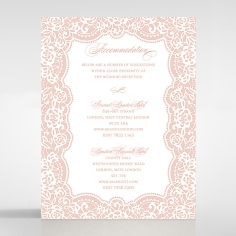 Floral Lace with Foil wedding accommodation invitation card