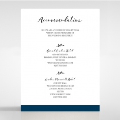 Forever Love Booklet - Navy accommodation wedding card design