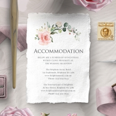 Garden Party accommodation wedding invite card
