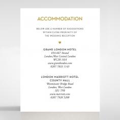 Gold Chic Charm Paper wedding stationery accommodation invitation card design