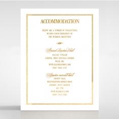 Gold Foil Baroque Gates wedding accommodation enclosure card design