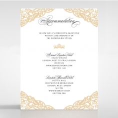 Golden Floral Lux accommodation enclosure stationery card design