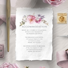 Happily Ever After accommodation wedding invite card design