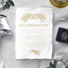 Heritage of Love wedding stationery accommodation invitation card design