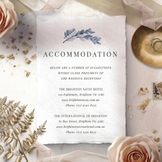 Indigo Round accommodation invitation