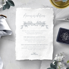 Leafy Wreath wedding stationery accommodation invite card