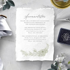 Love Estate wedding stationery accommodation enclosure card