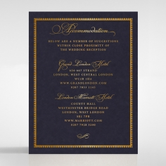 Lux Royal Lace with Foil wedding accommodation enclosure card