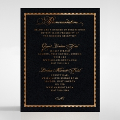 Lux Royal Lace with Foil wedding accommodation enclosure invite card