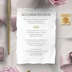 Olive Leaves accommodation stationery card