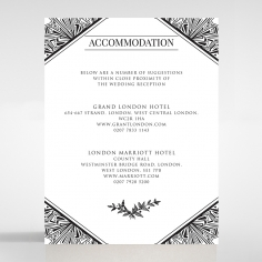 Paper Ace of Spades accommodation invite card design