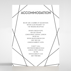 Paper Art Deco wedding stationery accommodation invite card design