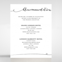 Paper Infinity accommodation card