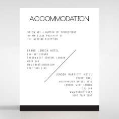 Paper Minimalist Love accommodation invitation