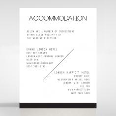Paper Minimalist Love accommodation invitation