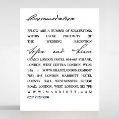 Paper Modern Romance wedding stationery accommodation invite card