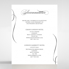 Paper Polished Affair accommodation invitation card design